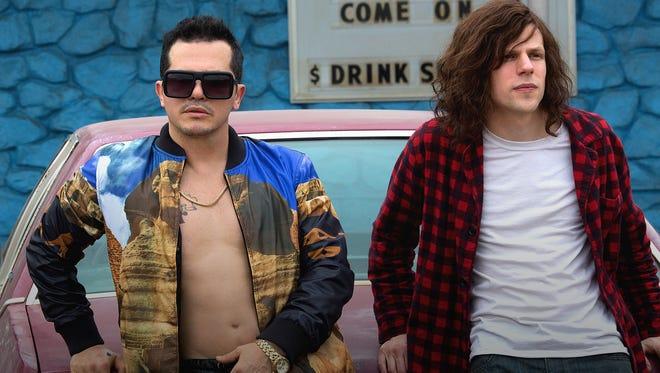 "John Leguizamo and Jesse Eisenberg star in ""American Ultra."""