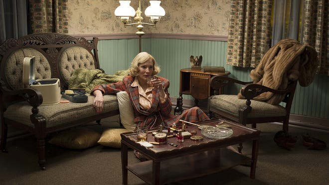 """The Weinstein Company Cate Blanchett stars as Carol Aird in a scene from the film ?Carol.? This photo provided by The Weinstein Company shows, Cate Blanchett as Carol Aird in a scene from the film, """"Carol."""" The film was released on Friday, Nov. 20. (Wilson Webb/The Weinstein Company via AP)"""