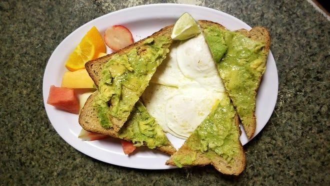 Avocado toast at Sunburst Cafe, 2340 Pine Ridge Road, in Naples.