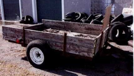 Sometime between April 6 and April 9, a 6-by-8-foot single axle homemade trailer (as pictured) was removed from 891 County Road S, in the township of Emmet, without the owner's permission. Another trailer in extremely poor condition, and of a very low value, was left in its place.