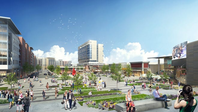 A rendering of a proposed redesign of Monmouth Mall by the owner Kushner Companies.