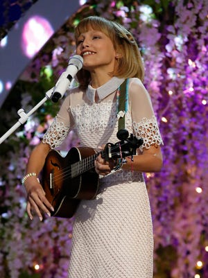 Grace VanderWaal performs Tuesday, Sept. 13, 2016, in the 'America's Got Talent' live finale. Grace won season 11 of the show on Wednesday, Sept. 14, 2016.