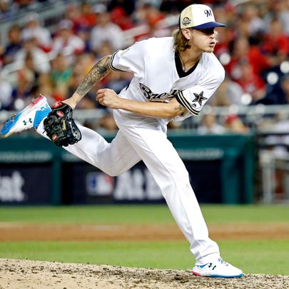 Jul 17, 2018: National League pitcher Josh Hader of