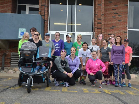 A group from the Battle Creek chapter of Moms Run This