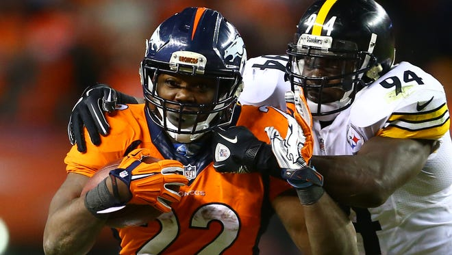 Broncos RB C.J. Anderson ran for 234 yards in three 2015 playoff games.