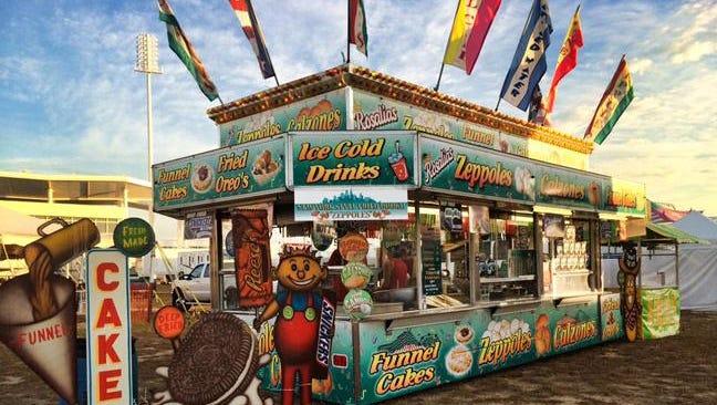 A carnival food vendor