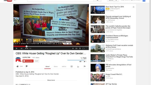 """CBS reports on White House """"Equal Pay"""" hypocrisy"""