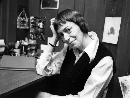 Author Ursula Le Guin is seen in a 1972 photo. Le Guin,
