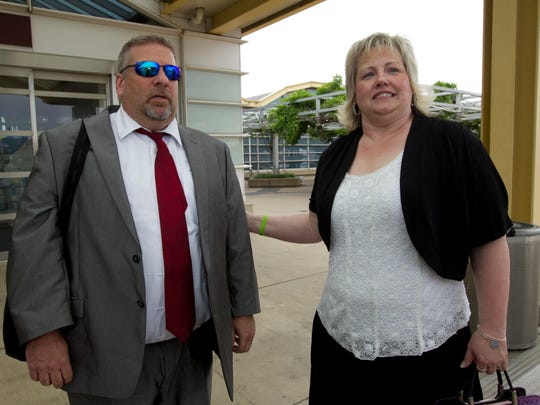 Laurie and Jason Holt arrive at Ronald Reagan Washington
