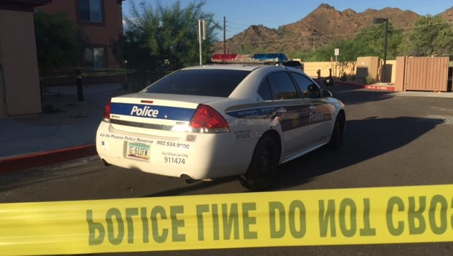 A woman was shot multiple times on Aug. 18, 2016, and Phoenix police were searching for a suspect in a desert area near Cave Creek Road and Peoria Avenue.