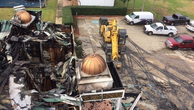 Authorities have determined arson is responsible for the fire that destroyed the Victoria Islamic Center mosque on Jan. 28, 2017.