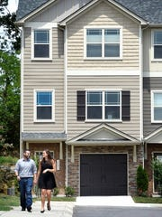 Brittany and Matthew Rubidoux's new home in Woodbury Falls is located off Old Hickory Boulevard in Bellevue. They chose the Bellevue area because it's more affordable than many other neighborhoods they looked at.
