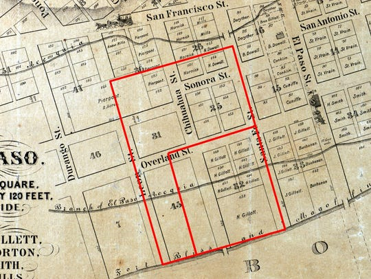 An early map shows the area within Union Plaza, also