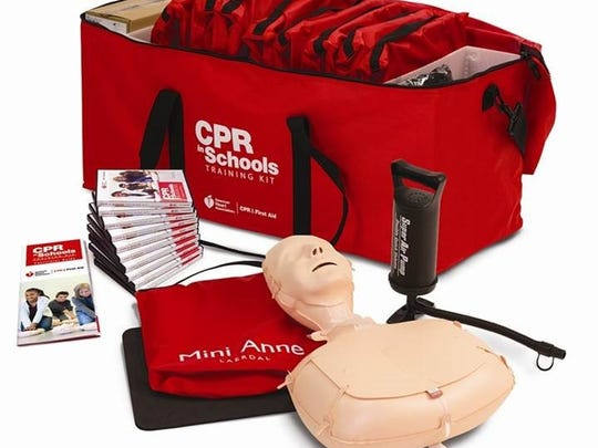 More than 40 CPR in Schools Training Kits have been purchased for Lee County middle and high schools.