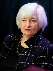 Federal Reserve Board Chairman Janet Yellen addresses