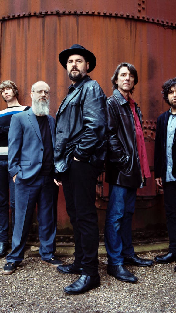 Drive-By Truckers, from left,  Matt Patton, Brad Morgan, Patterson Hood, Mike Cooley, Jay Gonzalez.