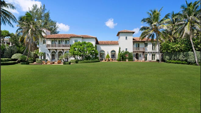 With classic Mediterranean-style design elements, a much-renovated 1922 house facing the ocean at 100 El Bravo Way has sold in Palm Beach for $24.5 million, according to a deed recorded Wednesday.