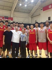 Bobby Gonzalez with his team as the coach of China's U19 squad.