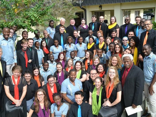 Dr. Fenton's choir, the Festival Singers of Florida,
