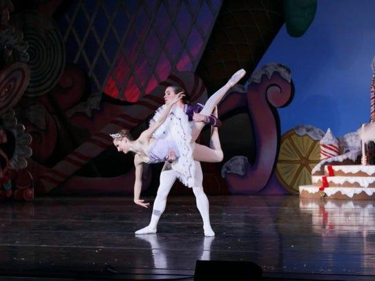 Simon Pawlak catches a sugar plum fairy in a 2008 performance