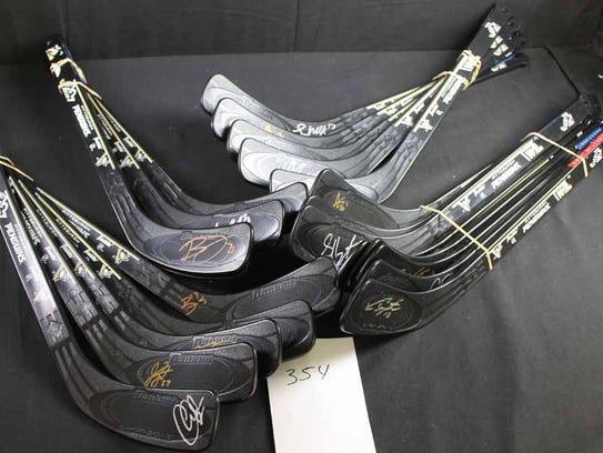 Autographed Hockey Sticks