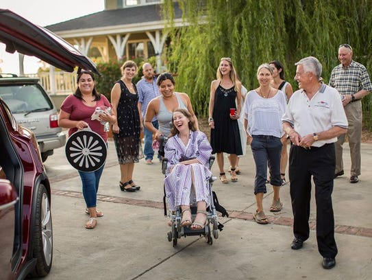 Betsy Davis, diagnosed with amyotrophic lateral sclerosis,