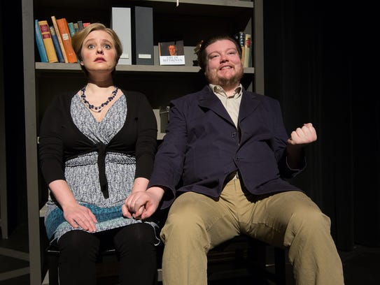 Ruth Arnell and Nicholas Callan Haubner, as Clara and