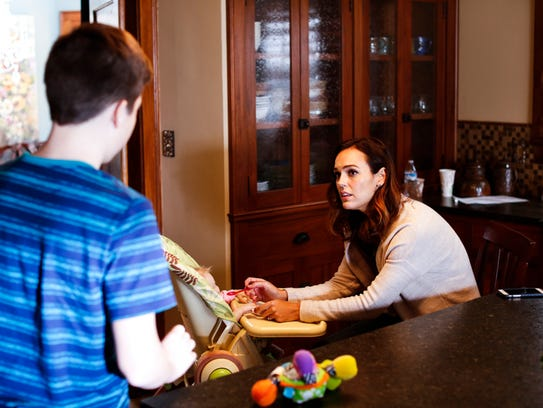 Erin Cahill stars as a stressed mother who has her