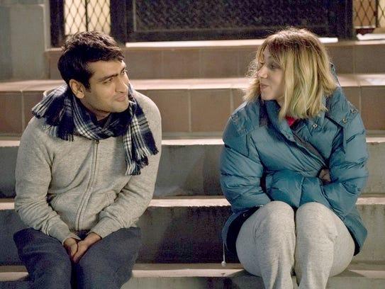 "Kumail Nanjiani and Zoe Kazan in ""The Big Sick."""