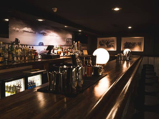 The main bar at Highside, a new cocktail bar in Phoenix's