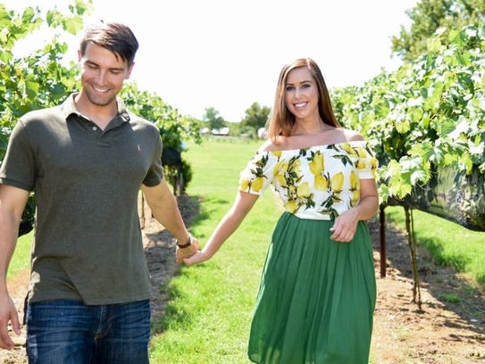 Holly Hammonds and R.J. Edwards at Arrington Vineyards