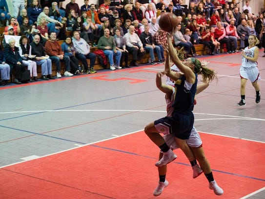 Brooke Emge goes up for a lay-up.