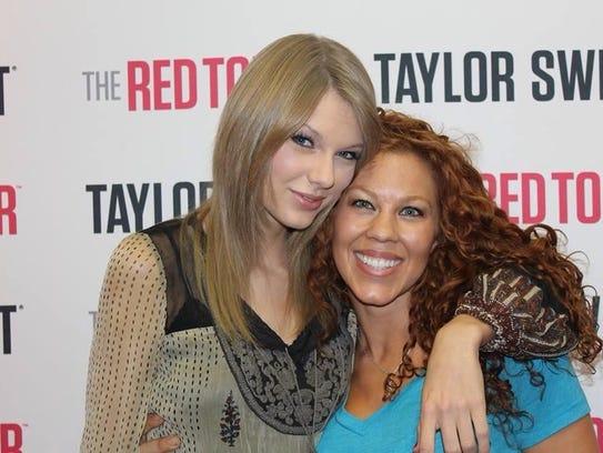 Fariland Ferguson, right, met Taylor Swift in Australia