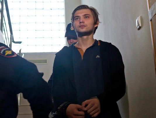 AP RUSSIA JAILED BLOGGER I FILE RUS