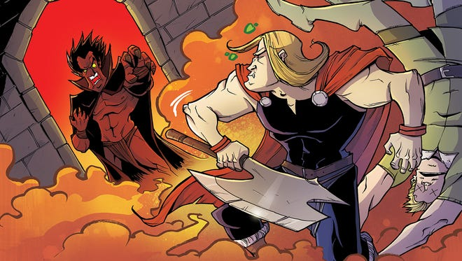 The devil comes down to Asgard when Mephisto engages in a drinking contest with Thor in a story by CM Punk and Rob Guillory.