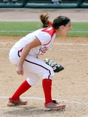 Jordan Wallace, shown here celebrating the final out of the 2013 NCAA Baton Rouge Regionals, threw three shutouts to lift the Ragin' Cajuns to that tourney crown.
