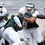 Michigan State notes: Spartans hope to identify backups at QB, OL in first scrimmage