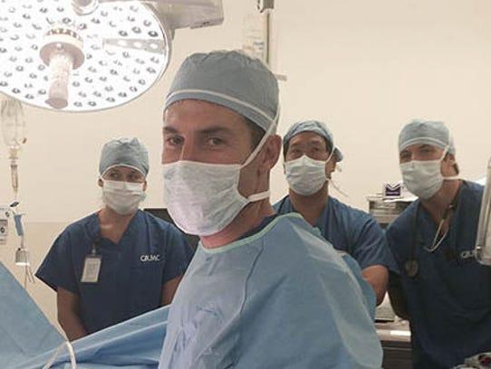 Urologist Dr. Ramsey Chichakli on Friday performed
