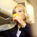 A passenger oxygen system is a continuous flow system; the bag allows for expansion and contraction as you breathe.