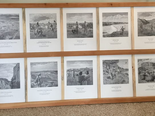 Havre artist Don Greytak donated a set of Lewis & Clark