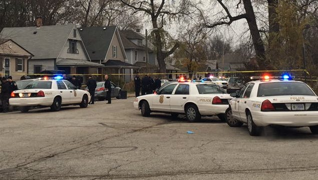 IMPD was investigating an officer-involved shooting in the 1800 block of Brookside Avenue Friday.