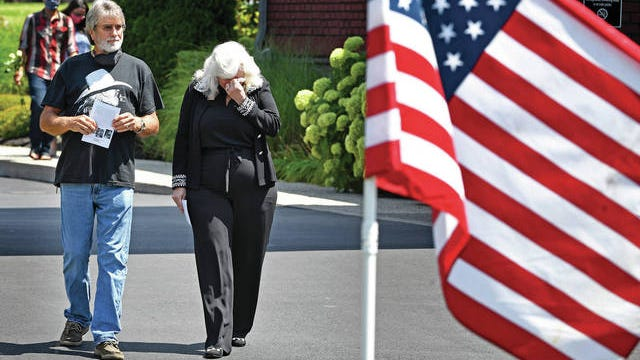 """Fred and Louann Anderson leave the visitation for Charlie Daniels on Thursday at Sellars Funeral Home in Mt. Juliet. A country music legend, Daniels died Monday morning after suffering a hemorrhagic stroke. He was 83. """"Of all the musical things he will be remembered for, which there's many, many … I think the man that Charlie Daniels was supersedes all of that,"""" country singer Tracy Lawrence said during the gathering. """"He was a gracious, humble, deeply convicted man about the things that he believed in."""""""