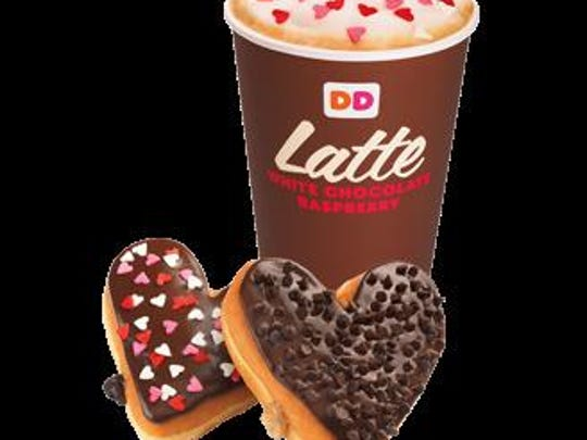 The White Chocolate Raspberry Latte is available in hot and iced varieties.