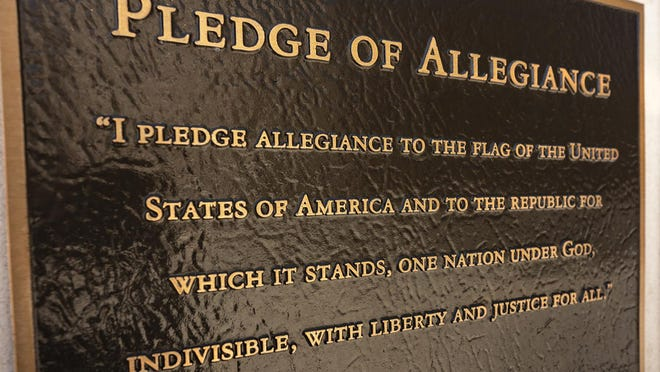 """The""""Pledge of Allegiance"""" written in 1892 inferred a united nation (under God was added in 1954), that cannot be divided, where all are free and have access to justice. However, when these words were penned, they weren't meant to include the indigenous Americans, women, nor the recently freed enslaved Blacks."""