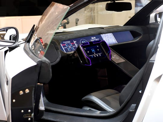 Corning's car display at the 2017 Consumer Electronics Show showed how Gorilla Glass could be used for both the exterior and interior of vehicles.