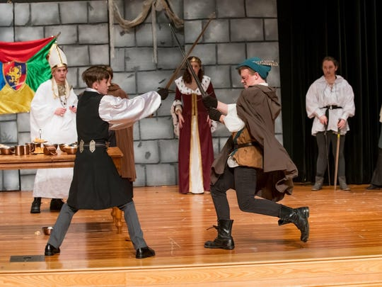 The final battle between Robin Hood and the Sheriff of Nottingham. The play is nominated for several Cappies.
