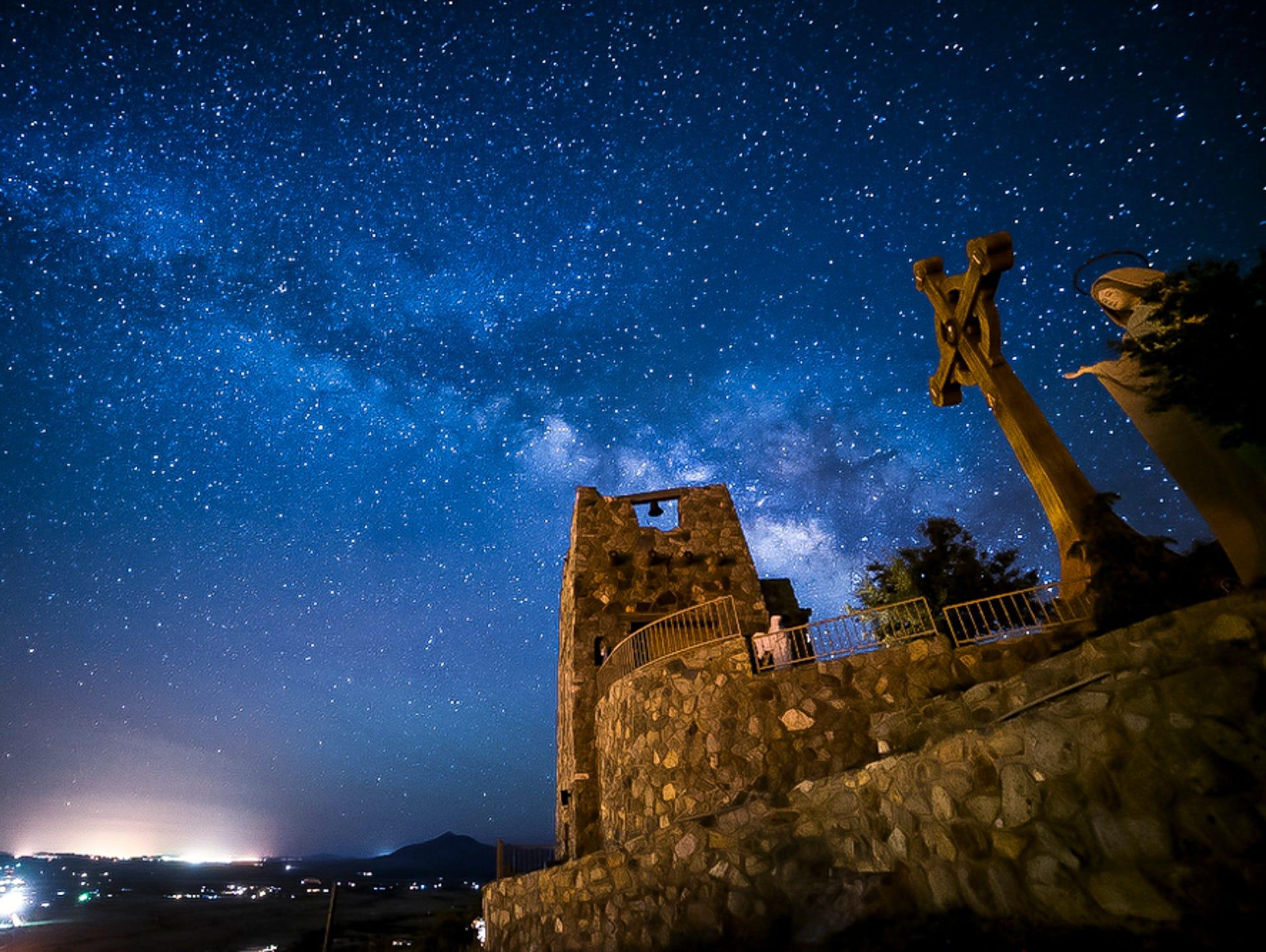 View of Tucson at night.   Night city, Arizona, Tucson