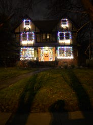 These Montclair homeowners used multi-colored lights