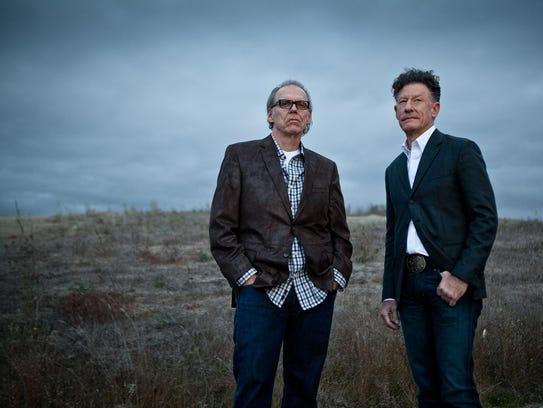 John Hiatt, left, and Lyle Lovett will perform at Thalia