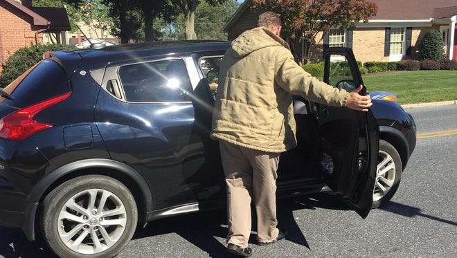 Reporter Daniel Walmer goes for an Uber ride in a Nissan Juke on Tuesday, Oct. 11.